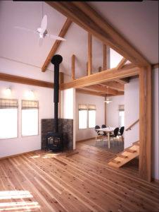 木の香りとぬくもりの家